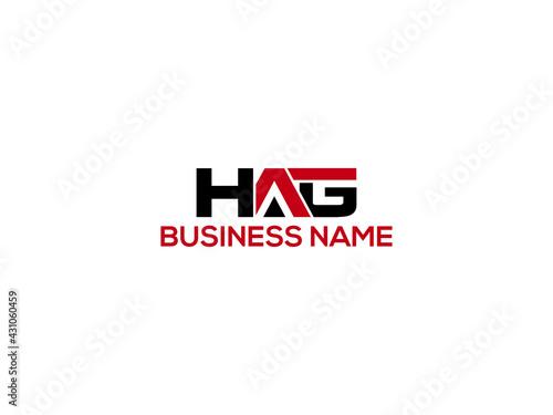 Fotografie, Obraz HAG Logo Letter Vector For Brand
