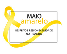 Yellow May. Respect And Responsibility In Traffic In Portuguese Language. Maio Amarelo Respeito E Responsabilidade No Transito Vector. Yellow Awareness Ribbon.