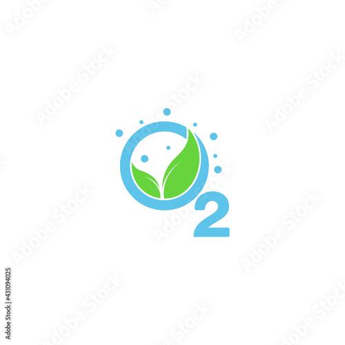 Obraz na plátně leaf oxygen source symbol vector