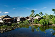 Village Lacustre Aux Philippines
