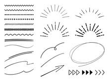 手描きの飾り線 セット