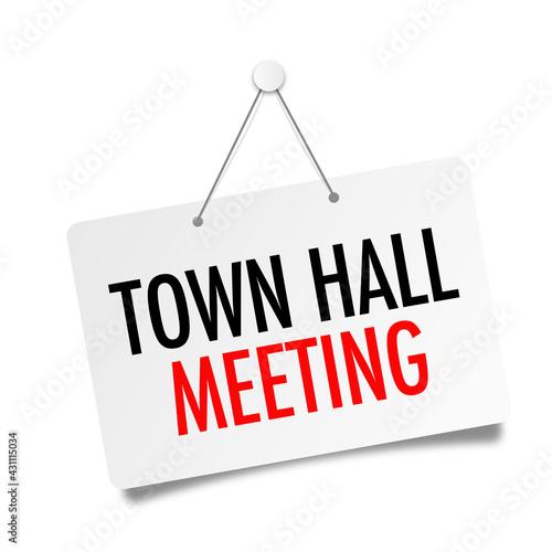 Fotografia Town hall meeting