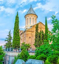 The Church Among The Cypresses, Tbilisi, Georgia.