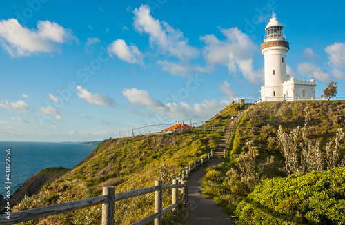 Morning view of Byron Bay Lighthouse, the most eastern mainland of Australia, New South Wales, Australia Wallpaper Mural