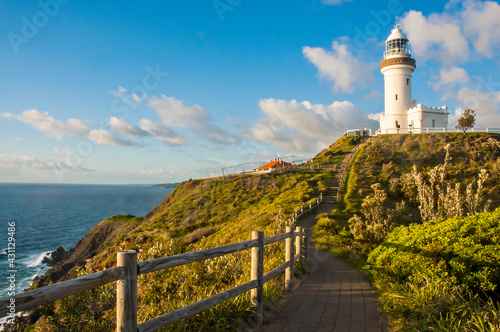 Photo Morning view of Byron Bay Lighthouse, the most eastern mainland of Australia, New South Wales, Australia