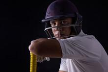 A Batsman, Cricketer Sitting In Dressing Room