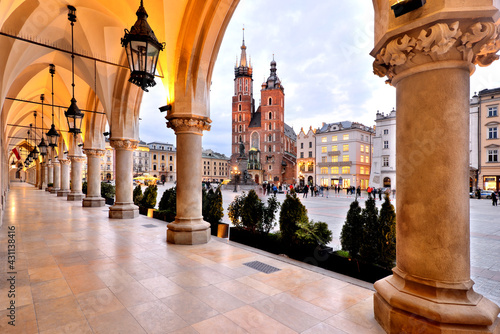 Old Town square in Krakow, Poland	 #431138416