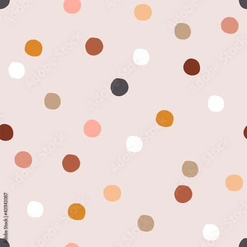 Tapety Boho   dziwaczne-okragle-ksztalty-wektor-wzor-projekt-festynu-w-naturalnym-kolorze-konfetti-recznie-rysowane-boho-geometryczne-abstrakcyjne-kropki-dziecinne-tlo