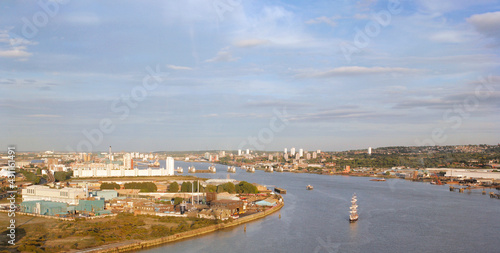 London Skyline, seen from the Emirates Air Line cable car #431161491