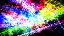 Slow Shifting Rainbow Outer Space Laser Light Show With Stars - Abstract Background Texture
