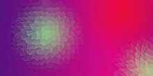 Abstract Paint Like Background Design. Polygonal Deformed Shapes. Green, Purple, Red And Blue Colors