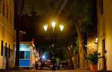 Lantern Lit In The Street