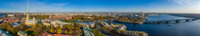 Peter And Paul Fortress And Peter And Paul Cathedral, Aerial Drone View. St. Petersburg