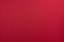 Blank Paper Sheet Of Crimson Or Shade Of Red Color For Background With Fine Texture.