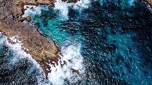 Vue Aérienne Mer Caraïbe