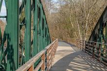 Iron Bridge Over River In Lake District