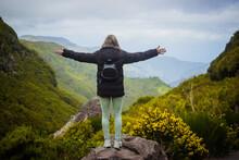 Hiking Through The Mountains Of Madeira Island