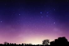 Blue Dark Night Sky Countryside