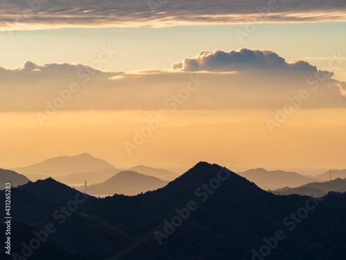 Fototapeta 広島県三原市筆影山からの展望