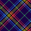 Plaid pattern herringbone colorful vector graphic in navy blue, neon green, purple, yellow, pink. Seamless large bright tartan check for duvet cover, other modern autumn winter fashion fabric print.