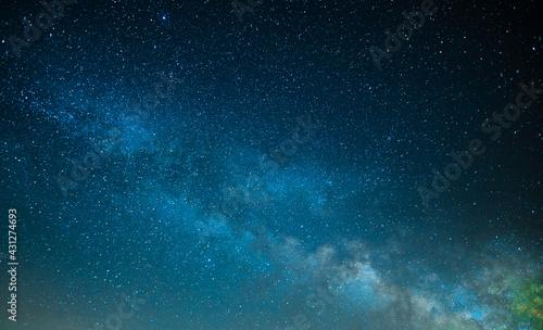 Starry sky, milky way. Oregon USA coast. Landscape photography - fototapety na wymiar