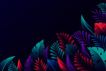 Gradient Tropical Leaves Background_5