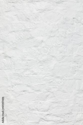 white painted old historic stone wall - fototapety na wymiar