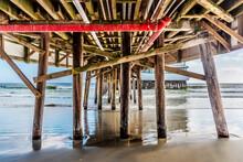 Daytona Beach Pier Seen From Under The Boardwalk