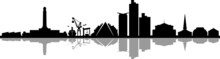 SOUTHAMPTON England United Kingdom City Skyline Vector