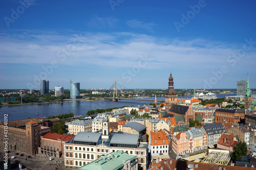Photo Panoramic view of Riga from the observation deck of St