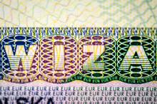 Schengen Visa Closeup Macro