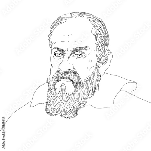 Foto Realistic illustration of the Italian astronomer Galileo Galilei