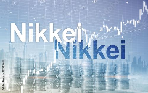 Valokuvatapetti The Nikkei 225 Stock Average Index