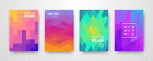 Modern Futuristic Abstract Geometric Covers Set