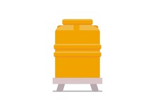Water Tank. Simple Flat Illustration.