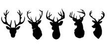 Deer Symbol Silhouette