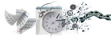 Time Clock Breaking In  Flying Pieces Time Pass Memory Loss Future New Era Feelings  Gears Free Freedom Psychology War