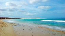 Sunny Beach Sea Sky Cape Verde Boa Vista