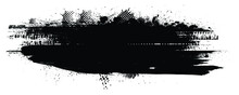 Splatter Paint Texture . Distress Grunge Background . Scratch, Grain, Noise Rectangle Stamp . Black Spray Blot Of Ink.Place Illustration Over Any Object To Create Grungy Effect .abstract Vector.