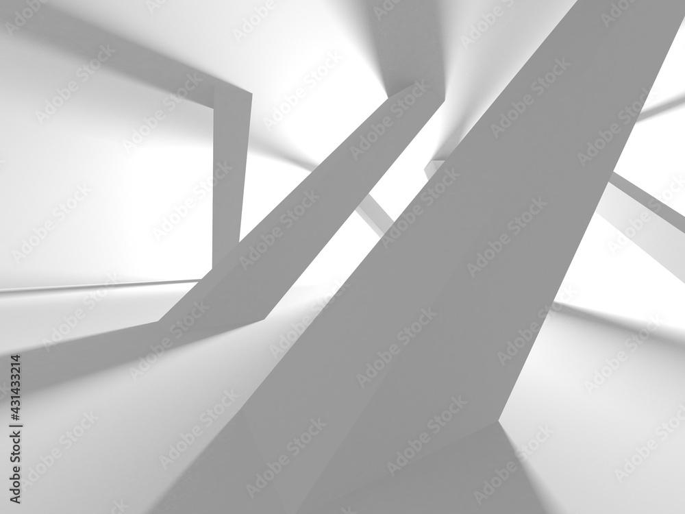 Fotografie, Obraz Illuminated corridor interior design