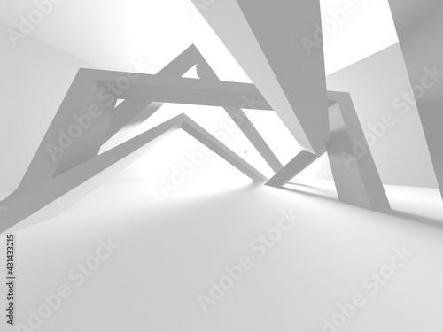 Illuminated corridor interior design Fototapeta