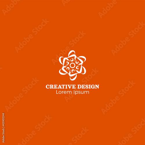 Cool Abstract Radial Creative Logo Design Vector EPS10
