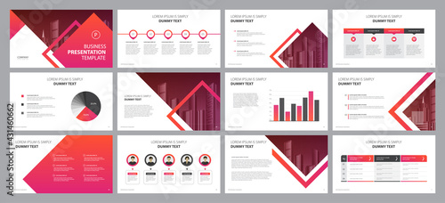 Tableau sur Toile business presentation template design backgrounds and page layout design for bro