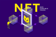 NFT Non-Fungible Token Vector Illustrations