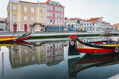 Foto Largo do Rossio, partial view of the central region and touristic point of the city of Aveiro, Portugal
