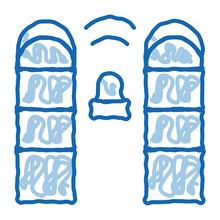 Alarm Signal Control Doodle Icon Hand Drawn Illustration