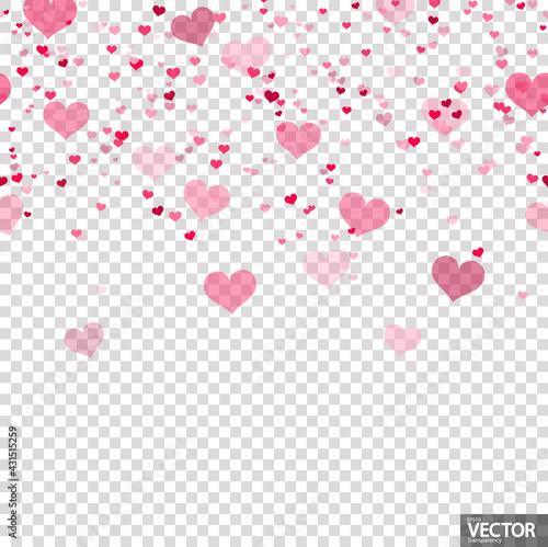 seamless confetti hearts background - fototapety na wymiar