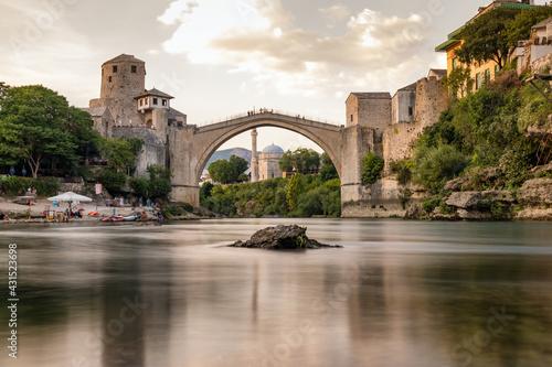 Stari Most bridge in old town of Mostar, BIH Fototapeta