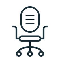 Swivel Chair Vector Icon