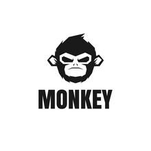 Vector Design Monkey Logo. Logo Template